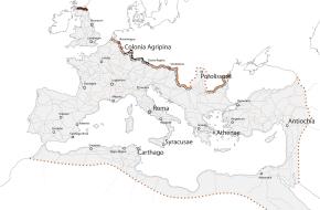 Limes Atlas - kaart van de Limes op Europese schaal