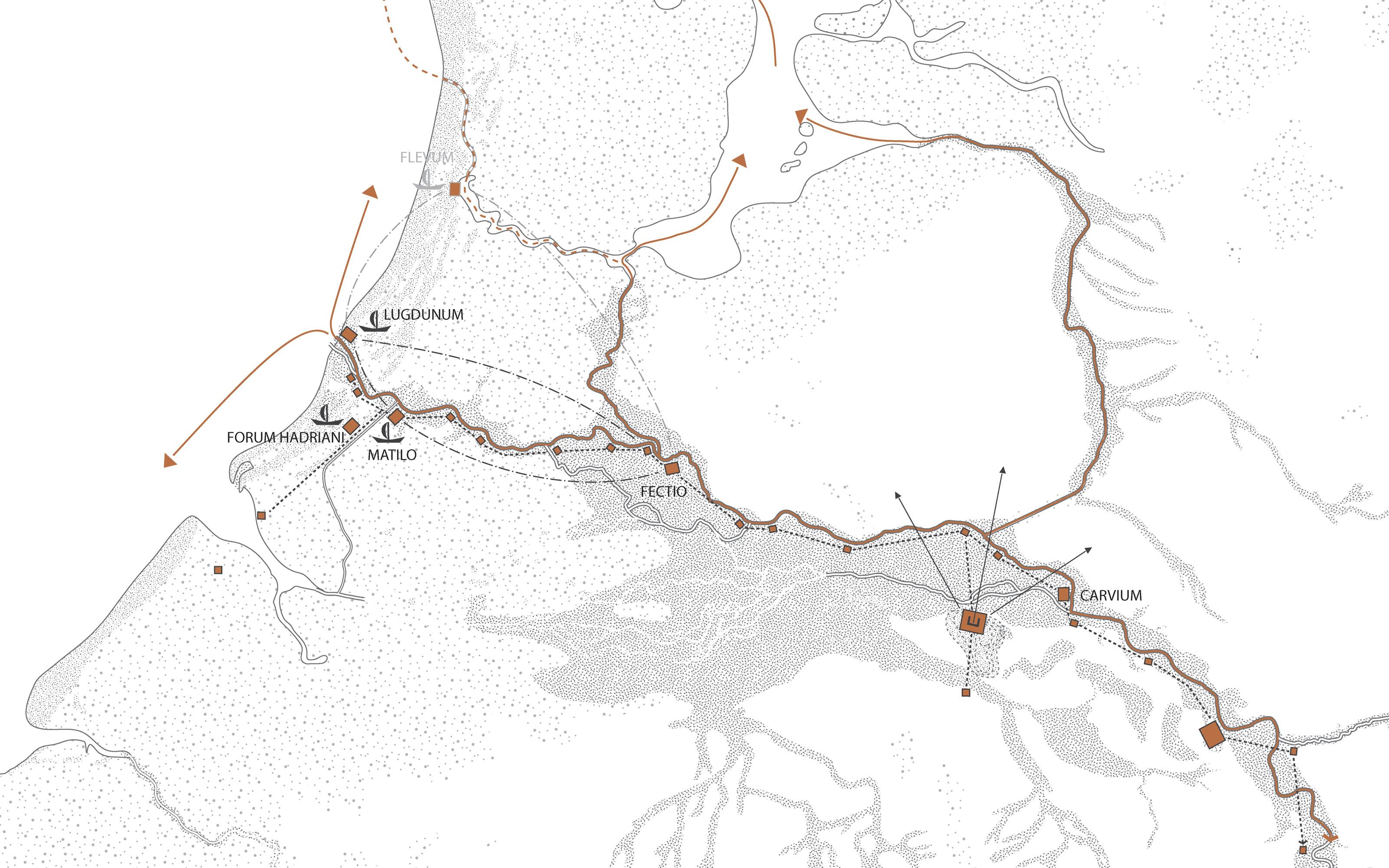 Limes Atlas - Kaart fortificaties Nederlandse frontlinie