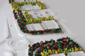 Landhof maquette