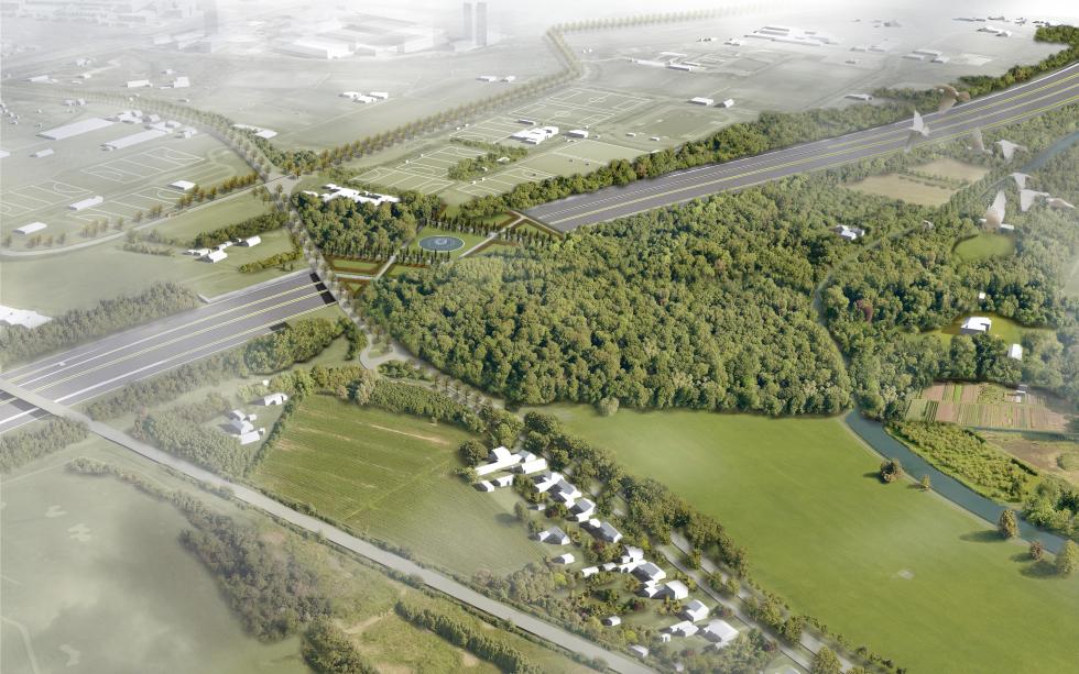 Maquette landschap rondom Ring Utrecht