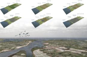 Delta - kaart en tekeningen Haringvliet