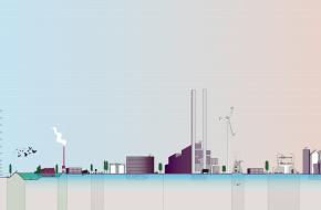 Westpoort - afbeelding met doorsnede havengebied