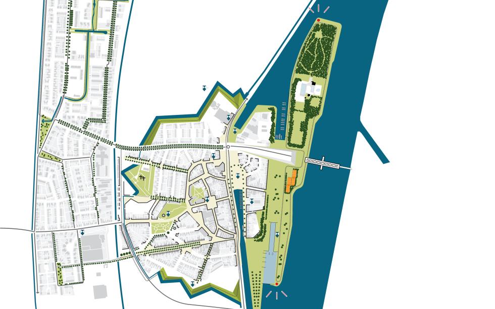 Sas van Gent - Kaart ruimtelijke structuur van het eiland