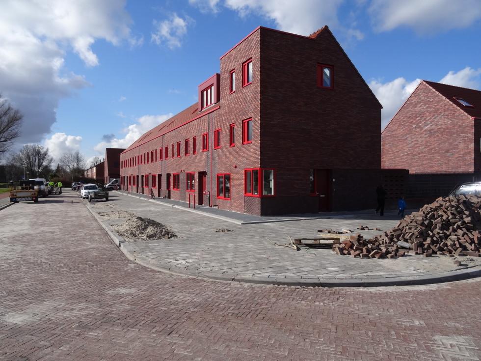 Ter Laan huis in aanbouw. Er zijn vier fases van de wijkvernieuwing. De derde fase gaat begin 2018 van start.