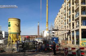 Supervisie Stadionplein - foto van het Noordblok in aanbouw