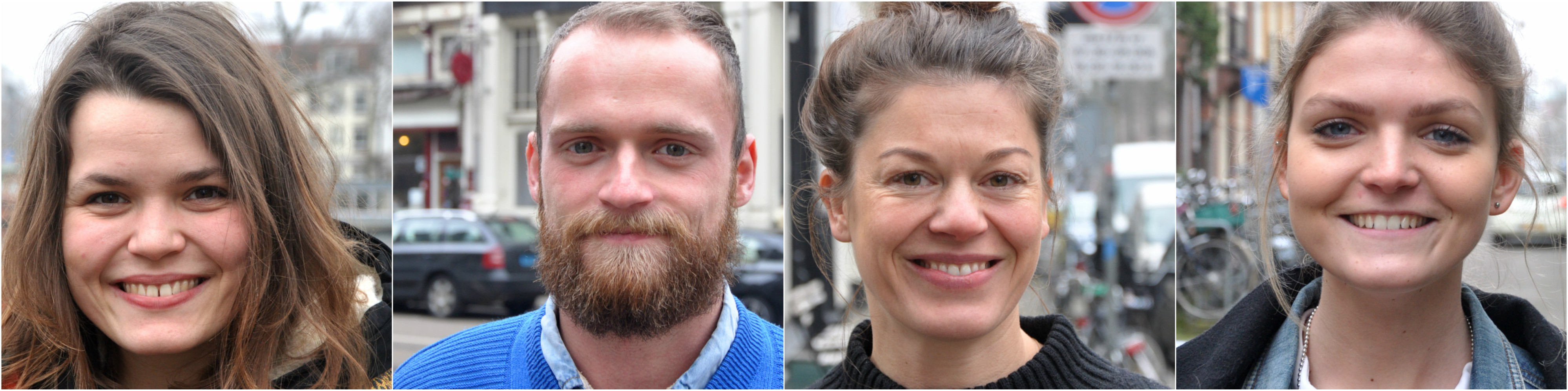 Foto's van vier nieuwe collega's bij MUST