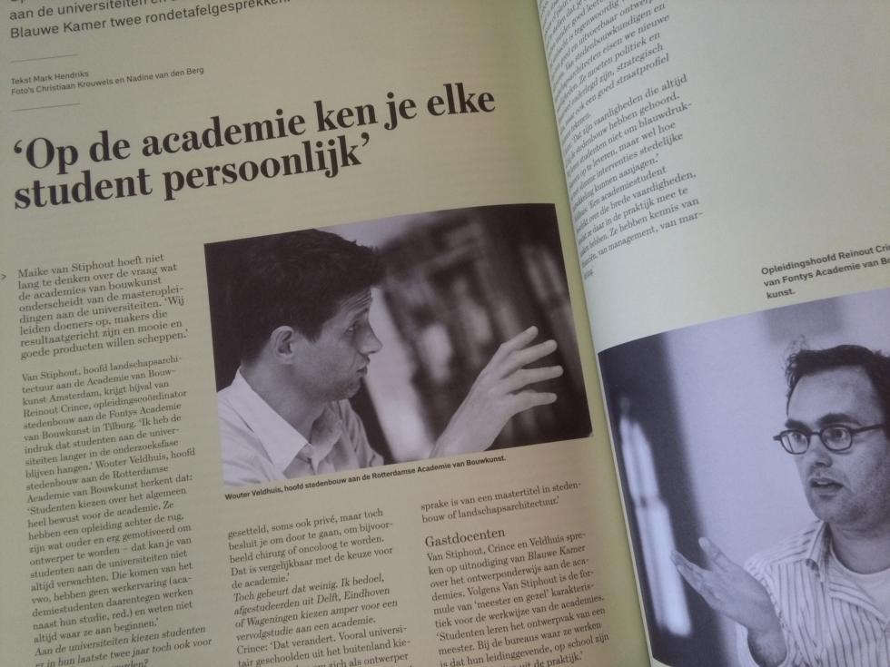 Foto artikel Blauwe Kamer onderwijs Academies en Universiteiten