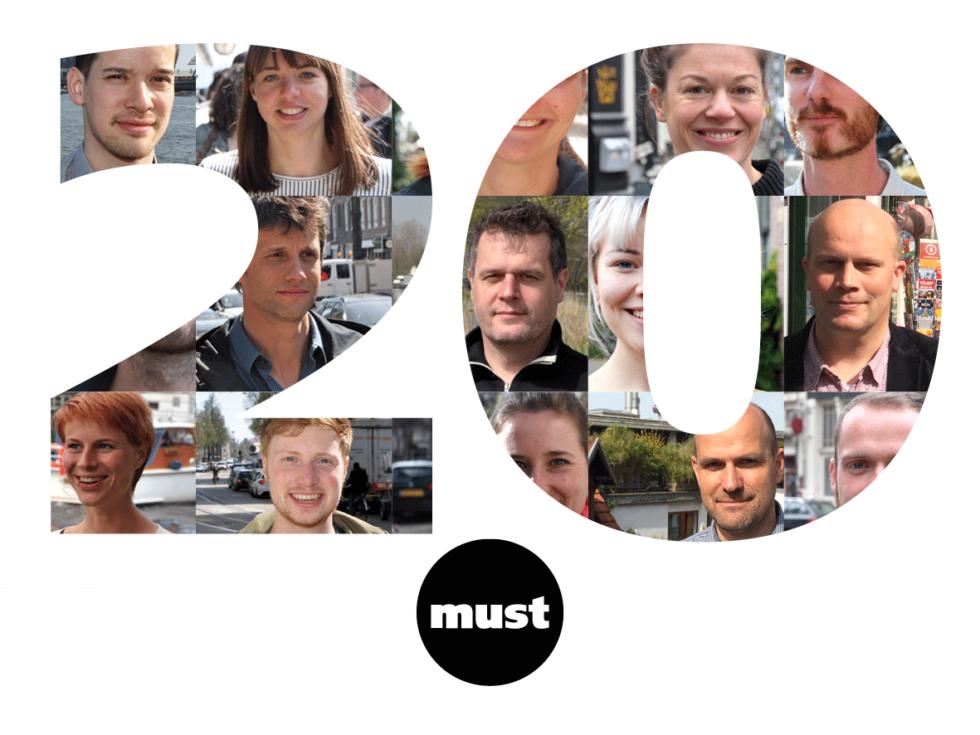 Onze afbeelding voor 20 jaar must. Dat vieren wij onder andere door iedere week een oud project online te zetten.