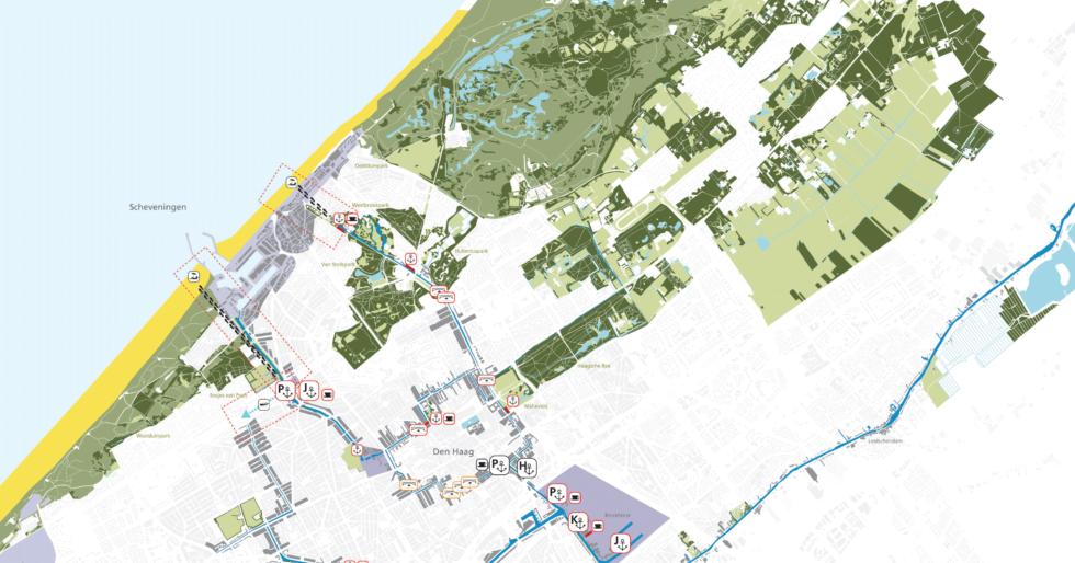 Kaart van de gemeente Den Haag, gemaakt voor het project Vaartenland uit 2011