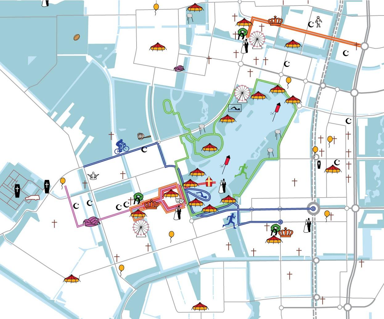 Een kaart uit de Atlas Westelijke Tuinsteden
