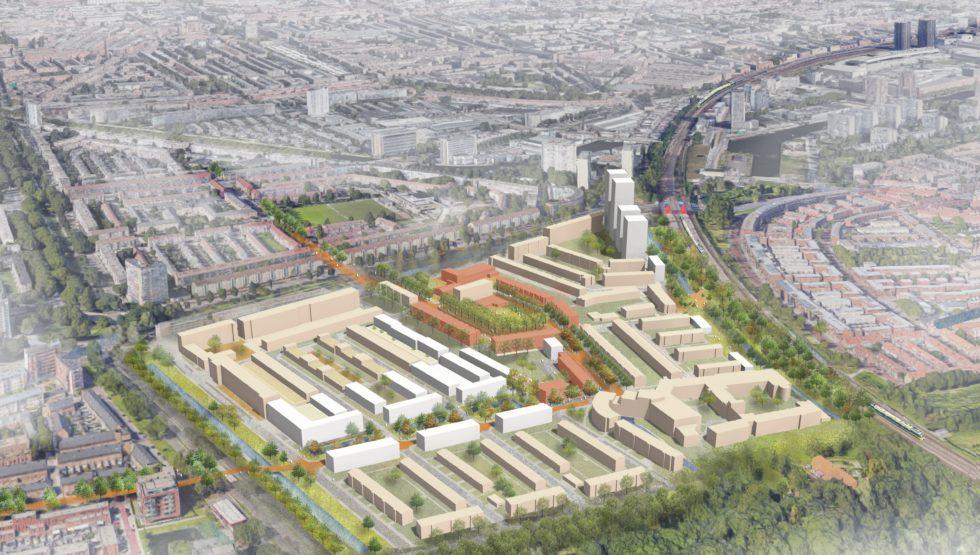 ©MUST stedebouw | overzichtstekening van het plangebied Moerwijk Oost