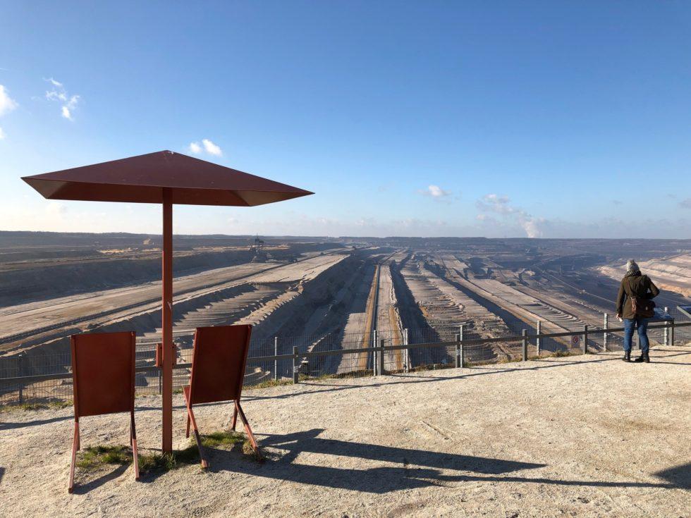 Foto van de bruinkoolmijn in Hambach