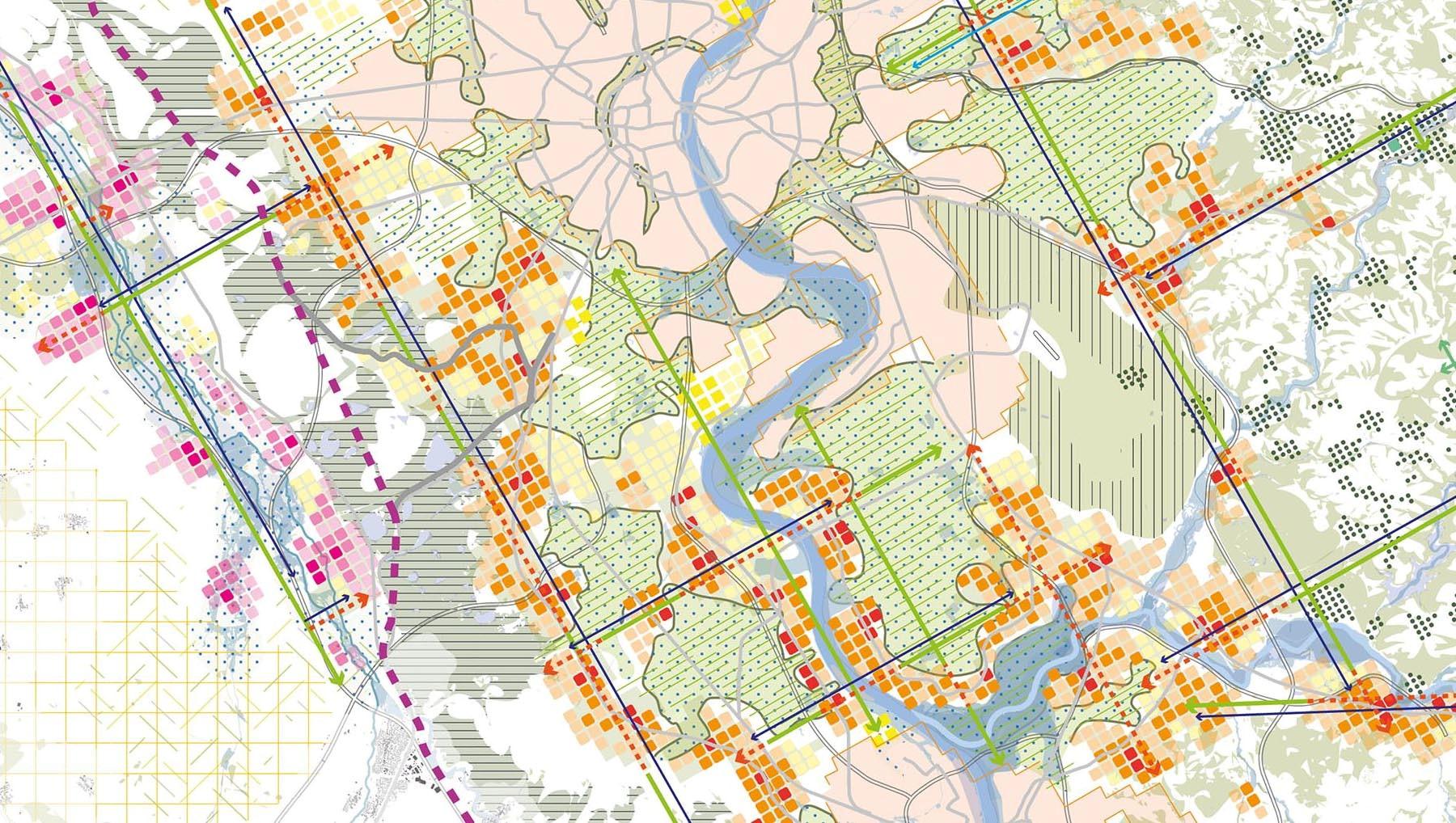 Afbeelding kaart behorend bij Agglomeratieconcept Keulen / Bonn