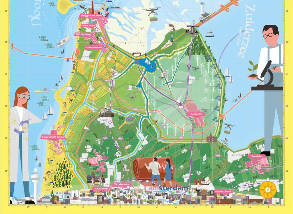 Deel van onze poster voor het project Kop van Noord-Holland.