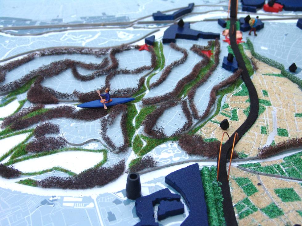 ©MUST | maquette van het gebied rondom snelwegen