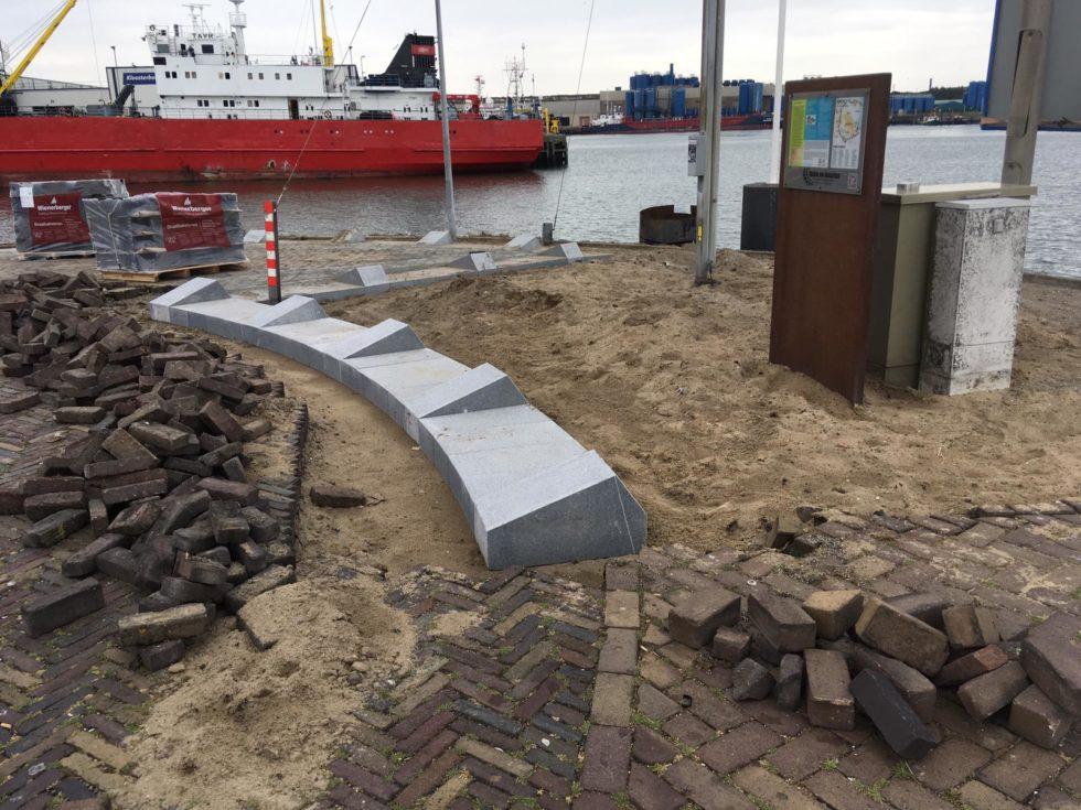 Werk in uitvoering in IJmuiden