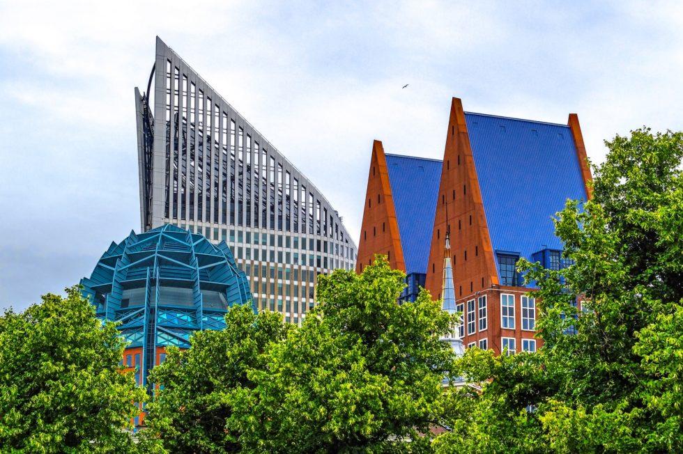 Foto van de skyline van Den Haag waar Wouter spreekt tijdens De Dag van de Stad