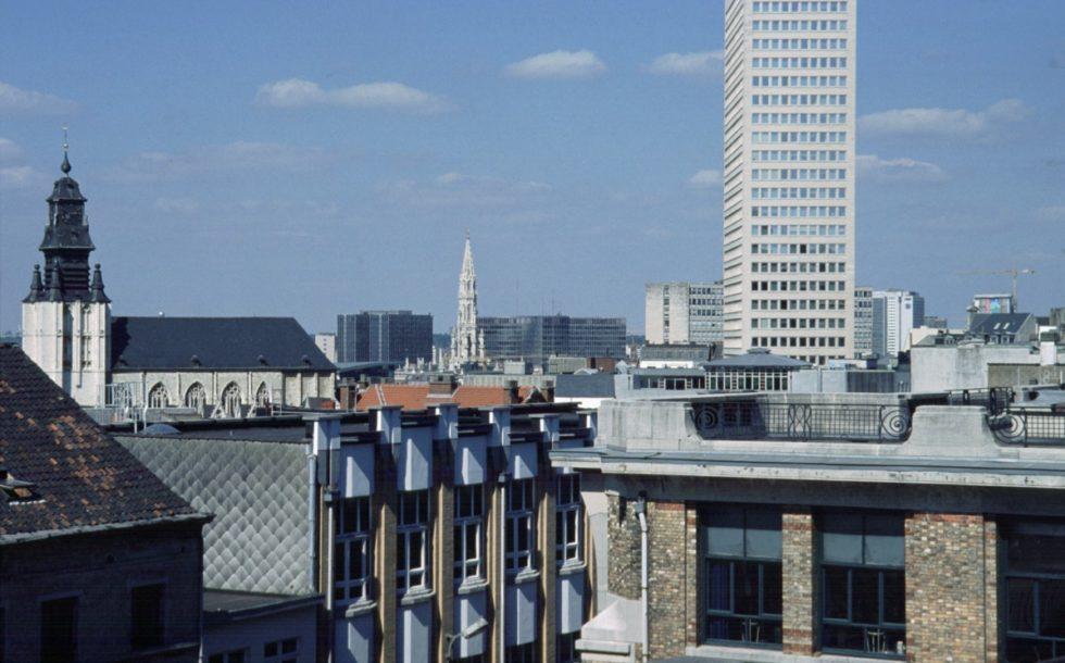 Panorama van de stad Brussel