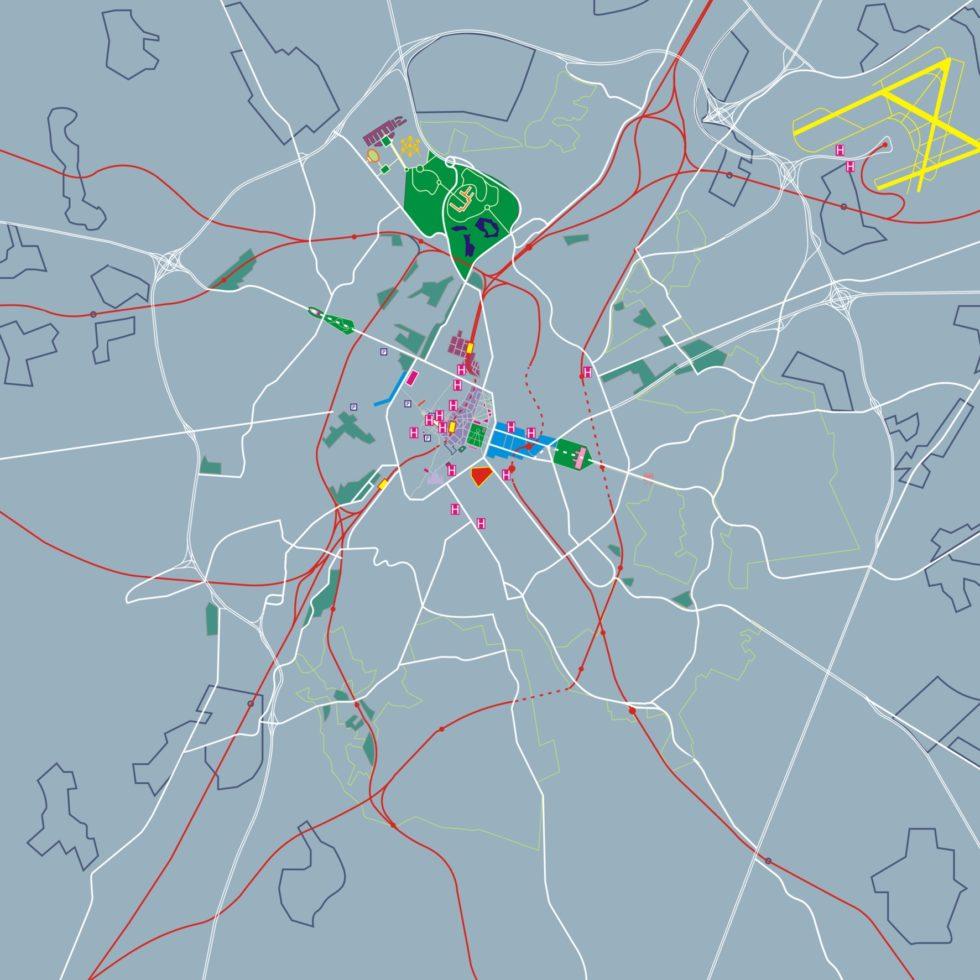 Kaart van de stad Brussel