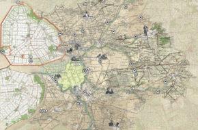 Deze kaart van de Atlas Regio Zwolle laat het cultureel erfgoed in de regio zien.