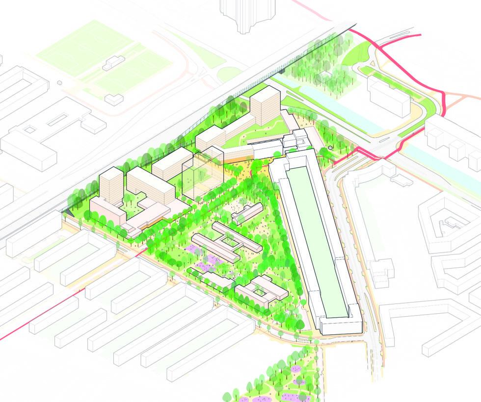 Overzichtskaart van het plangebied in Gulden Winckel