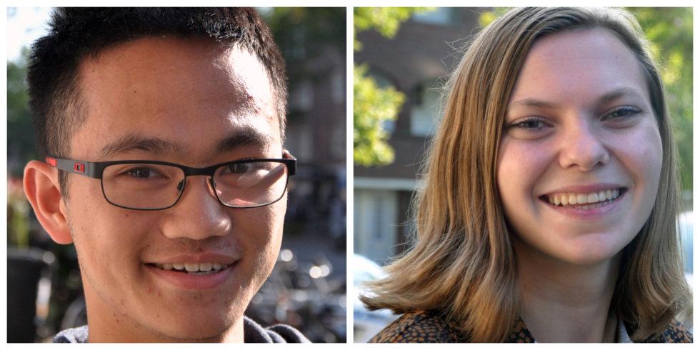 Foto's van onze nieuwe stagiaires Calvin en Hadassa