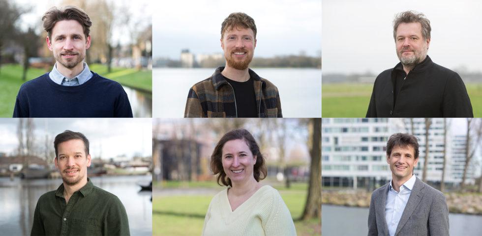 De foto laat het nieuwe directieteam zien. Met Sebastian van Berkel, Hein Coumou, Freek van Riet en Veerle Simons als nieuwe directieleden.